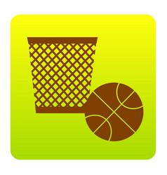 trash sign brown icon at vector image