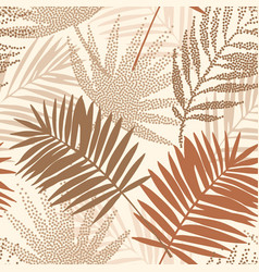 tropical seamless pattern with terracotta dotted vector image