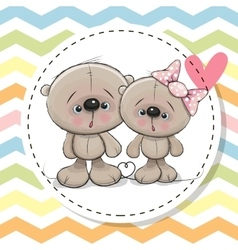 Two cute Teddy Bears vector