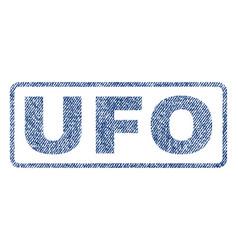 Ufo textile stamp vector