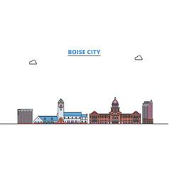 united states boise city line cityscape flat vector image