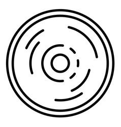 Vinyl disc icon outline style vector