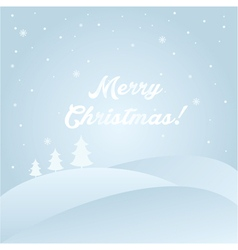 winter landscape with text Merry Christmas vector image