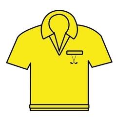 Yellow polo shirt graphic vector