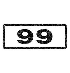 99 watermark stamp vector image vector image