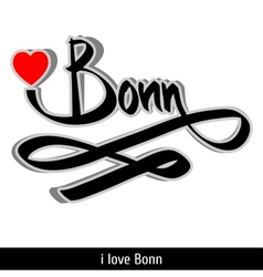 Bonn greetings hand lettering Calligraphy vector image vector image