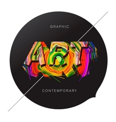 Contemporary Art abstract background vector image vector image