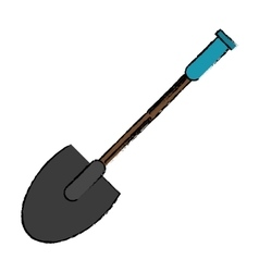 drawing shovel tool element camping vector image