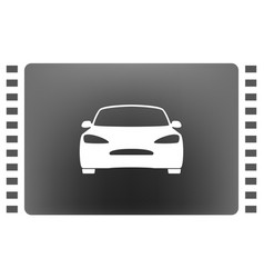 flat paper cut style icon of a car vector image