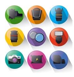 photo equipment icon set vector image