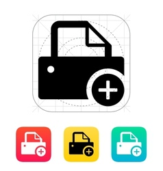 Printer with plus sing icon vector image vector image