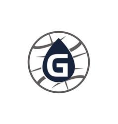 Water oil world letter g vector
