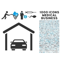 Car Garage Icon with 1000 Medical Business vector image vector image