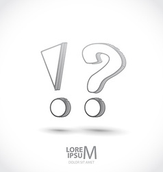 Exclamation and question mark vector image vector image