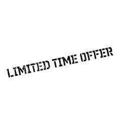 Limited time offer stamp vector image