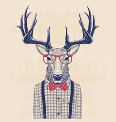 nerd deer vector image vector image