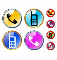 phones icons vector image vector image