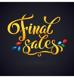 Sale poster with percent discount of vector image