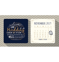 Vintage typography wedding invitation vector image vector image