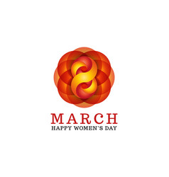 8 march happy women is day female greeting card vector image vector image