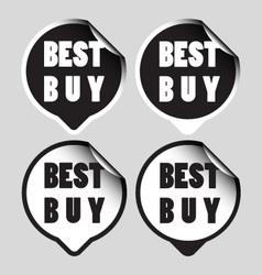 Best buy stickers vector