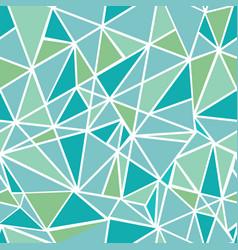 blue green geometric mosaic triangles vector image