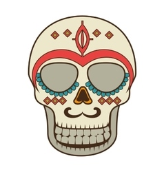 skull mask mexican culture vector image vector image