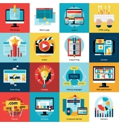 Creative Process Concept Icons Set vector image vector image