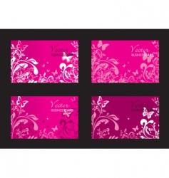 floral pink cards vector image vector image