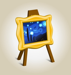 Picture icon on easel vector image vector image