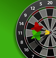 Two darts in aim vector image