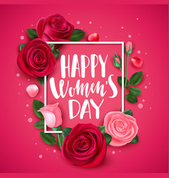8 march card with rose congratulations vector image