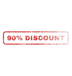 90 percent discount rubber stamp vector
