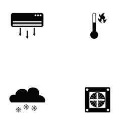 air condition icon set vector image