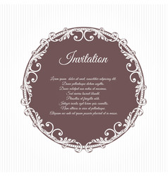Ancient vintage inviting greeting card brown the vector