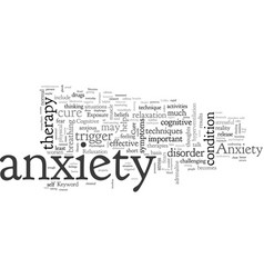 anxiety cure vector image