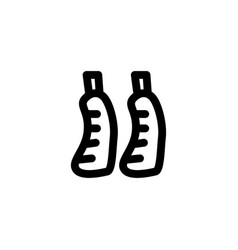 beef leg icon symbols vector image