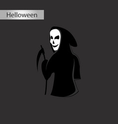 black and white style icon of halloween death vector image