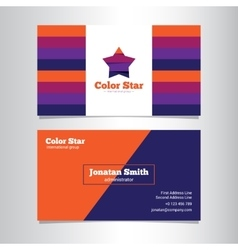 bright creative business card template vector image