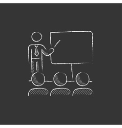 Business presentation Drawn in chalk icon vector