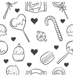 candy various hand draw style doodles vector image