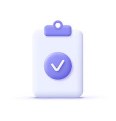 Check mark icon approvement concept document vector