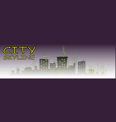 city building silhouette vector image