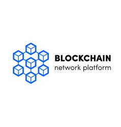 Cloud blockchain cryptocurrency server logo vector