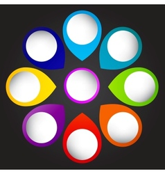colorful circular banners vector image vector image