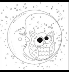 coloring book for adult and children coloring vector image
