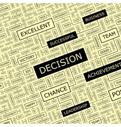 DECISION vector image