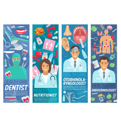 Doctors and dentist medical staff vector