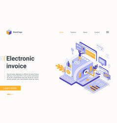 Electronic invoice bill finance technology vector