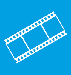 film with frames icon white vector image